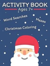 Activity Book Word Search Maze Coloring Ages 7+