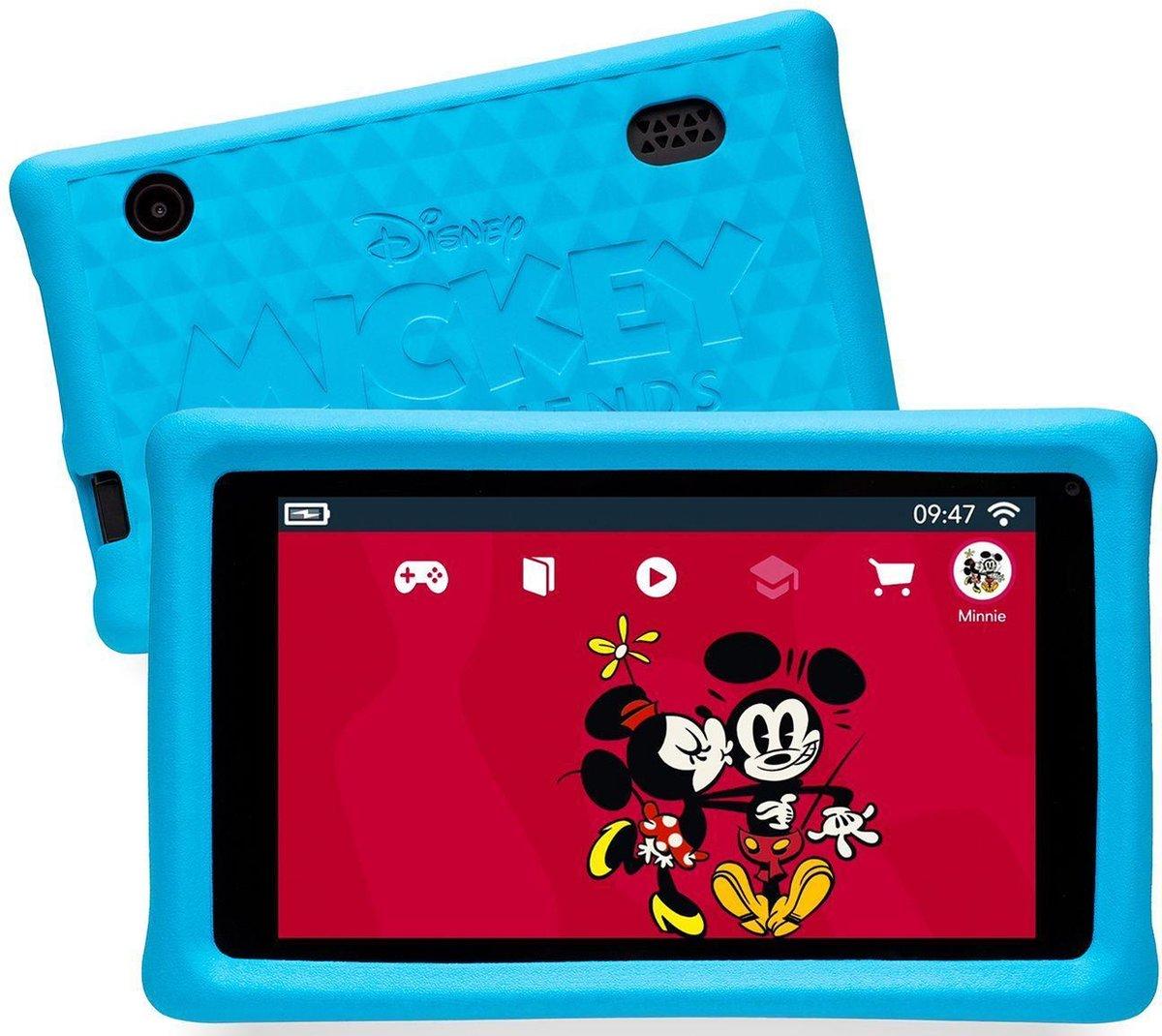 Pebble Gear Kinder Tablet Disney Mickey Set Draagtas - 7 inch - 1GB - Android 8.1- 500 games - Ouderlijke controle