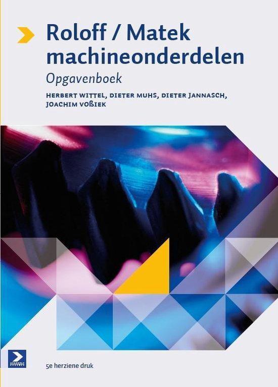 Cover van het boek 'Roloff/Matek machineonderdelen  / deel Opgavenboek'