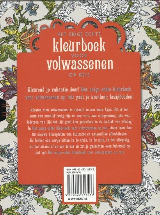 Het enige echte kleurboek voor volwassenen op reis