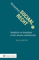 Monografieen sociaal recht 71 -   Stelplicht en bewijslast in het nieuwe arbeidsrecht