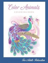 Color Animals Coloring Book For Adults Relaxation