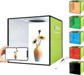 Puluz Professionele Foto Studio Box met LED verlichting 30 x 30 x 30 cm - Inclusief LED verlichting en 6 kleuren achtergronden