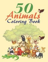 50 Animals Coloring Book