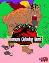 Thanksgiving Dinosaur Coloring Book