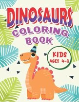 Dinosaur Coloring Book Kids Ages 4-8