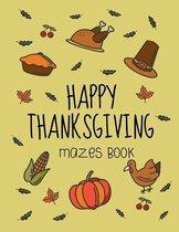 Happy Thanksgiving Mazes Book