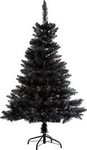 Zwarte kunstkerstboom Premium kwaliteit - H 150 cm -  Blooming collectie - Kerstboom