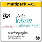 Etos Baby Lotion Sensitive Billendoekjes - 960 stuks (12 x 80 stuks)