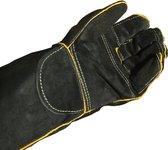 Barbecuehandschoenen - bbq handschoenen - bbq accesoires - Oven Grill - Open haard - Pannenlap - BBQ - Leren lashandschoenen met lange mouwen
