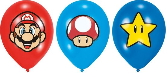 Super Mario Ballonnen - Mario Kart - Supermario 6 stuks