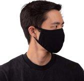 Mondkapje zwart - 100% katoen  - wasbaar - herbruikbaar - Mondmasker -  mondbescherming - LunaLux original