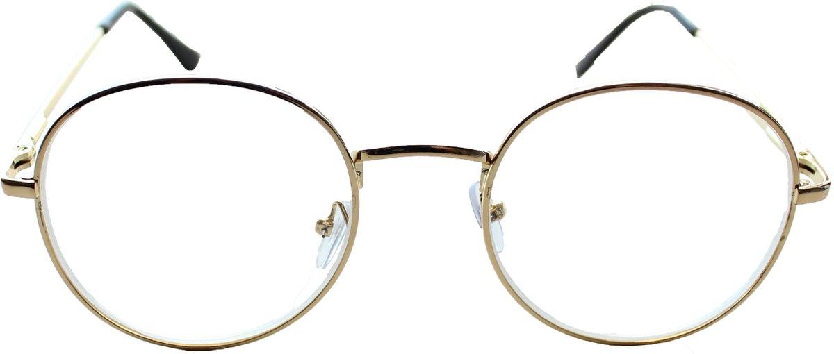 Oculaire | Johann| Goud | Min-bril | -1,00 | Rond | kopen