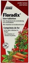 Salus Floradix IJzer-tabletten – Bij vermoeidheid – Voedingssupplement met ijzer – 84 tabletten