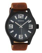 OOZOO Timepieces C10677 Bruin Zwart Horloge