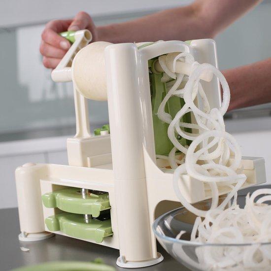 Lurch - Spirali - Spiraalsnijder - Groentesnijder voor courgetti - Wit en groen