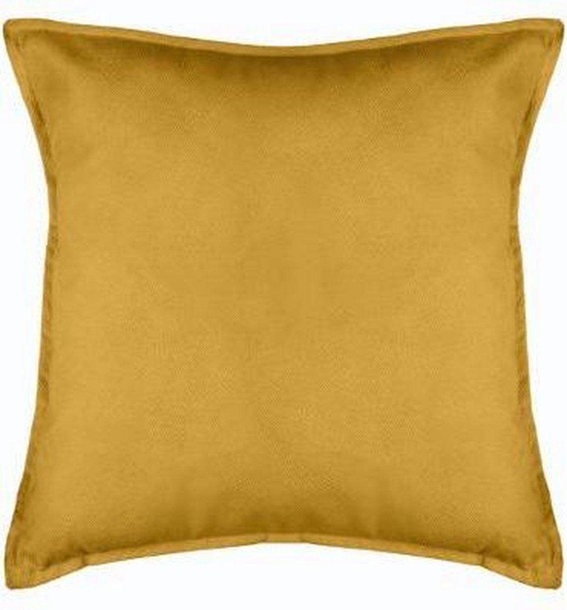 Velvet kussen Ocre XL – Oker geel – 55 x 55 cm (incl. vulling)