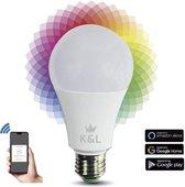 K&L® Smart Bulb Slimme verlichting - Geen Hub nodig - Werkt Zonder Philips Hue Bridge - Smart Lamp