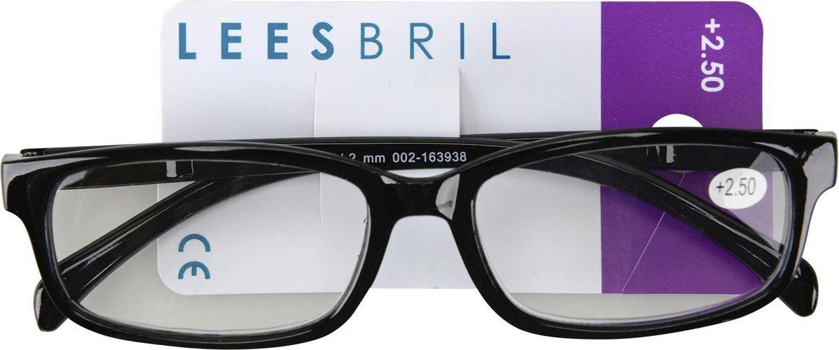 Leesbril Plastic Zwart Unisex +2.5 Dpt kopen