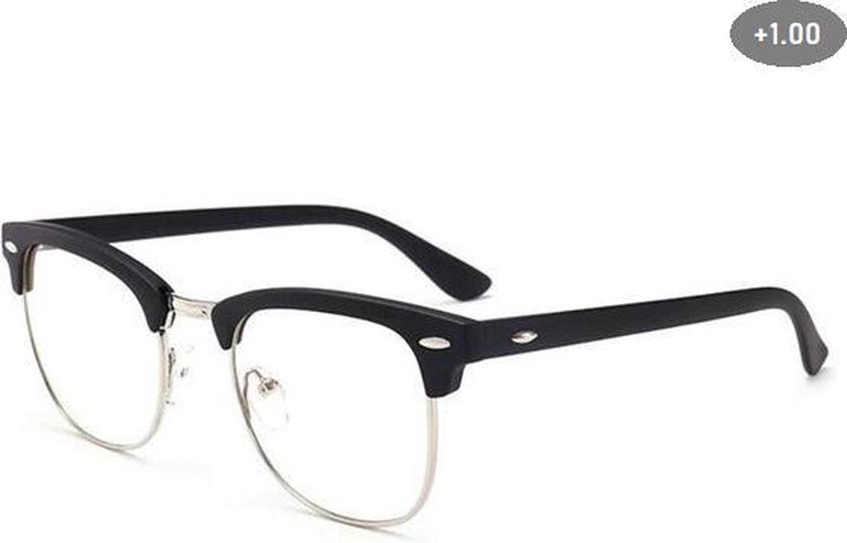 Computer Bril - Anti Blauwlicht Beeldscherm Filter Bril - Bluelight bril - Blauw licht leesbril - Zwart/Goud - Blue light glasses - Leesbril Op sterkte +1.00 kopen