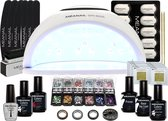 Gellak - MEANAIL® KIT deluxe - UV lamp LED  48 watt - 3 kleuren gelnagellak