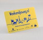 Weekendjeweg.nl Cadeau Card €15 - enveloppe verpakking