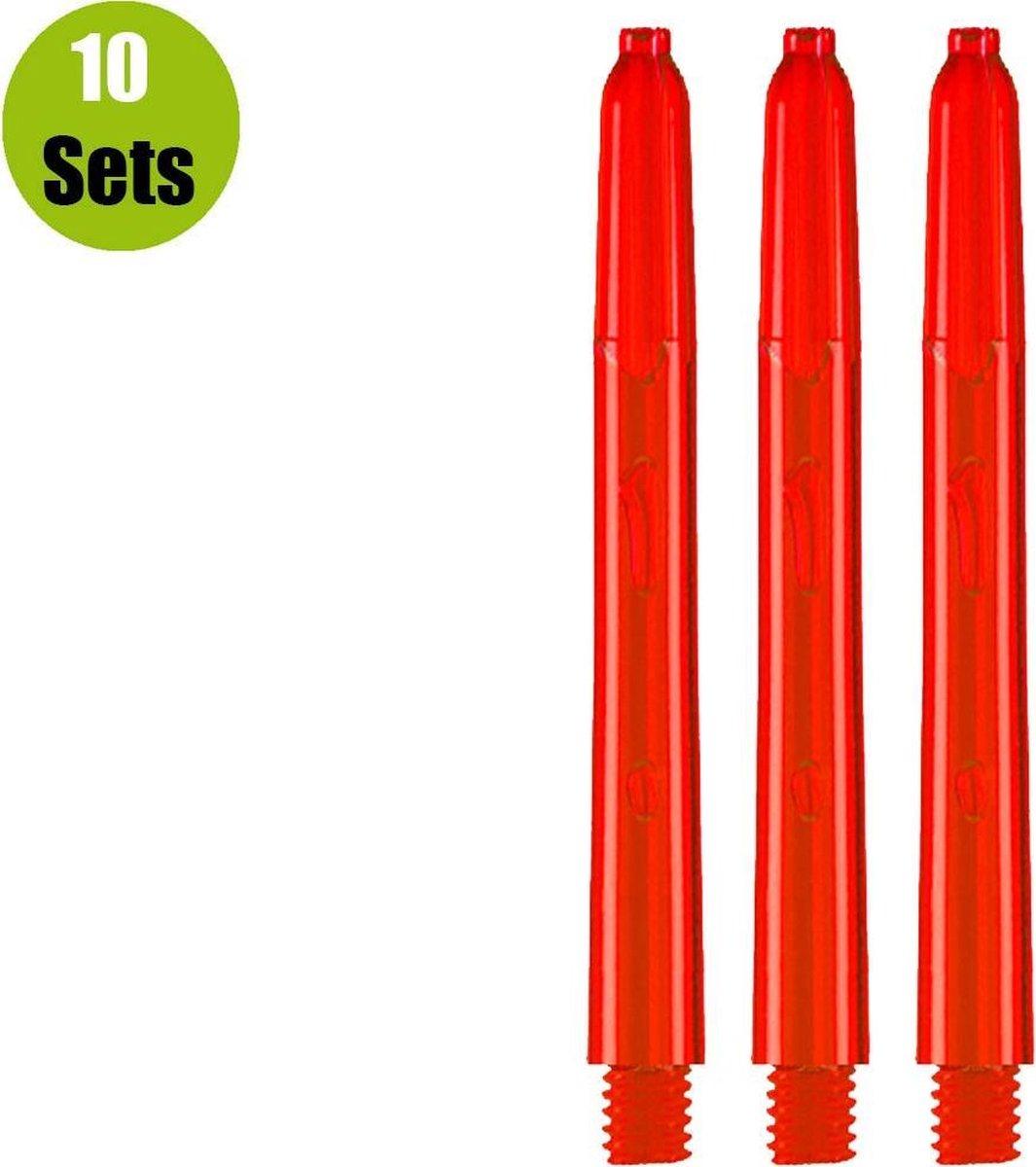 Glow Dart Shafts - Rood - Short - (10 Sets)