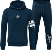 Malelions Captain Tracksuit - Navy/Off-White - XS