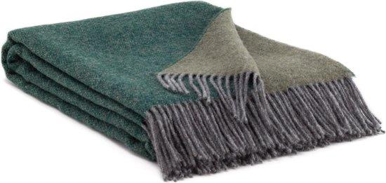 MOST wollen plaid Hunter - Pure Nieuw-Zeelandse wol - groen / grijs
