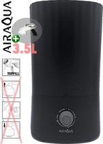 AirAqua Luchtbevochtiger Jota (zwart)   Manueel + Aroma + Topfill   Incl. extra filterset!