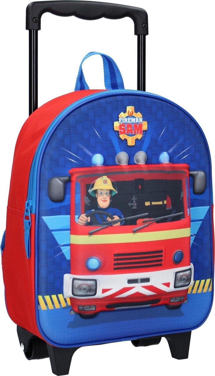 Brandweerman Sam On Duty Rugzaktrolley - 9,3 l - Rood