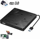 Externe DVD / CD Speler en Brander voor Laptop - Externe DVD Brander - Geschikt Voor Windows, Linux & Mac - USB 3.0 - plug en play DVD / CD speler en brander