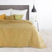 Luxe bed_deken_Brulo_Polyester_sprei_220x240 cm_Gewicht-150+100+65 GSM__mosterd