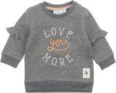 Feetje Sweater Little and Loved Antraciet Melange MT. 62
