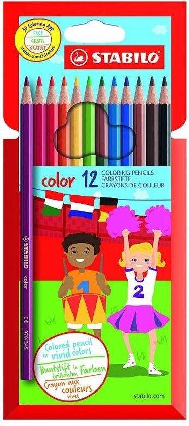 STABILO Color Kleurpotloden - Etui 12 kleuren