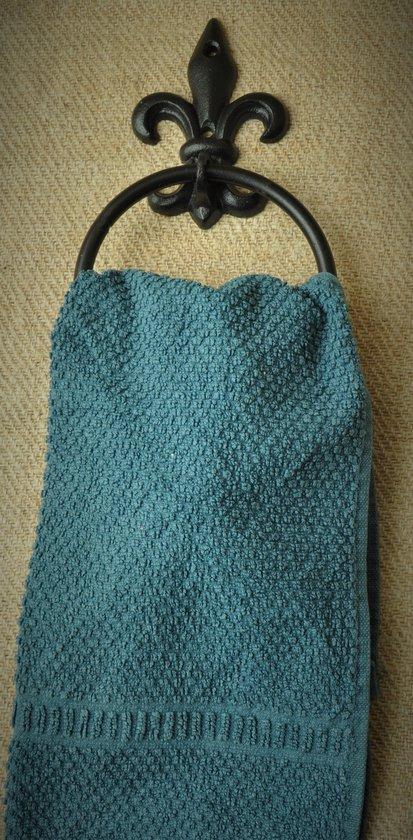 Brynxz Handdoekring Franse Lelie,  gietijzer zwart