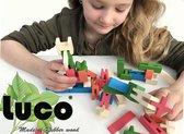 Luco Toys Medium Houten Plankjes en Blokken Speelgoed - 260 blokken
