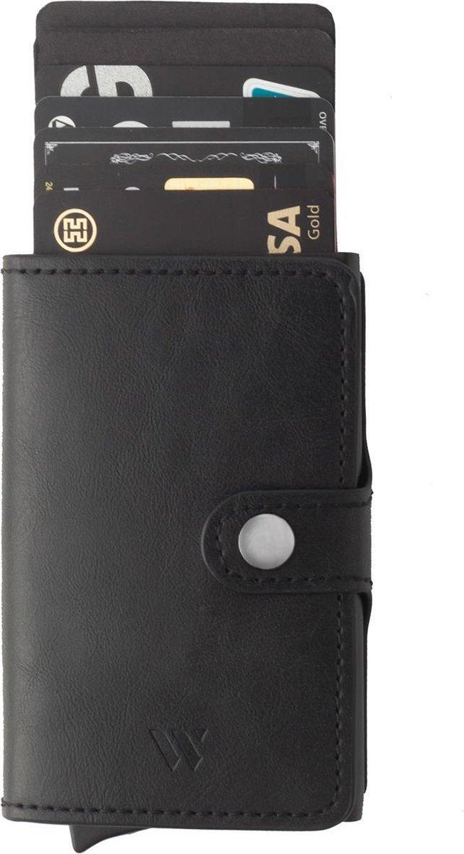 Wallix® Pasjeshouder Creditcardhouder - Uitschuifbaar - Unisex Portemonnee - 100% RFID Veilig - Leer