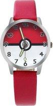 Pokémon horloge (ball) met glow in the dark wijzers