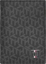 Tommy Hilfiger - TH monogram bifold - heren - black monogram