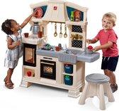 Step2 Speelkeuken Classic Chique - Kinderkeuken incl. Kruk en 28-delige accessoire-set