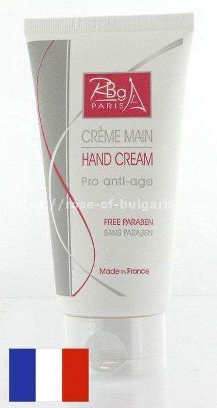 Franse pro anti-verouderings Handcrème zonder parabenen (Lichte rozengeur)