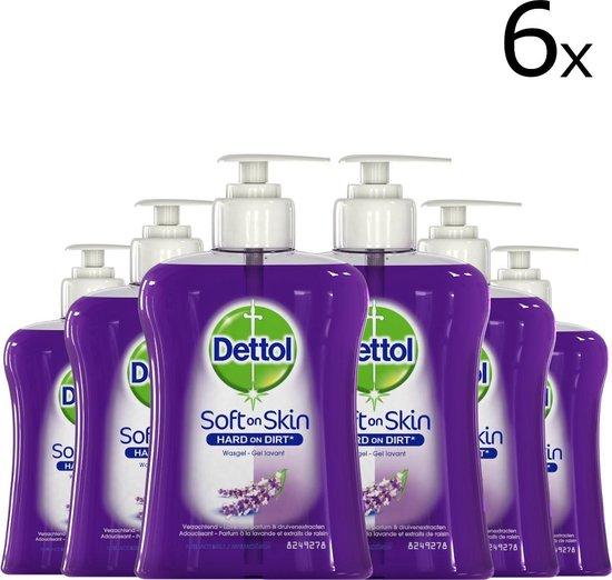 Dettol Handzeep Verzachtend - Lavendel - 6 x 250 ml - Grootverpakking