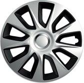 Versaco Wieldoppen Stratos Silver&Black 16 inch - Set van 4
