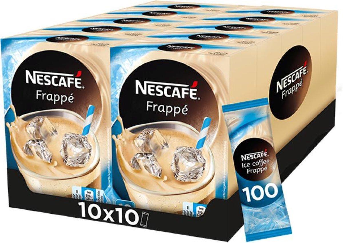 Nescafé Frappé oploskoffie - 10 doosjes à 10 zakjes