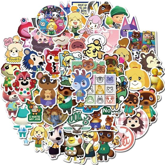 Animal Crossing - Animal Crossing stickers - 50 stuks - Animal Crossing switch - Animal Crossing new horizons - Animal Crossing merchandise - Stickers kinderen
