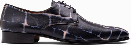 Paulo Bellini Dress Shoe Carbonia Leather Blue/Beige.