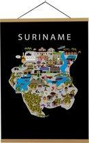 Kaart van Suriname   B2 poster   50x70 cm   Maison Maps