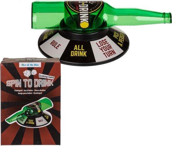 Thumbnail van een extra afbeelding van het spel Spin To Drink - Drankspel - Flesje draaien - Spin The Bottle