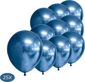 Blauwe Ballonnen Chrome 25St Feestversiering Verjaardag Luxe Babyshower Ballon